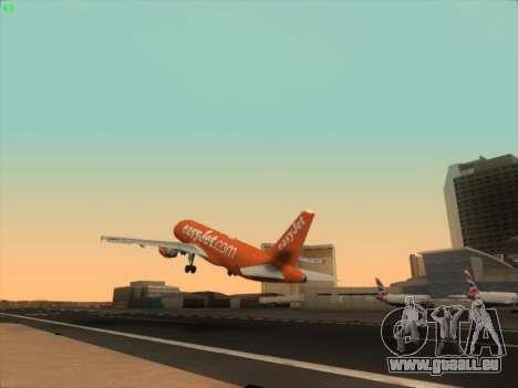 Airbus A320-214 EasyJet 200th Plane für GTA San Andreas Seitenansicht