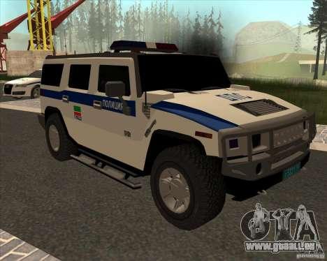 Hummer H2 DPS für GTA San Andreas Rückansicht