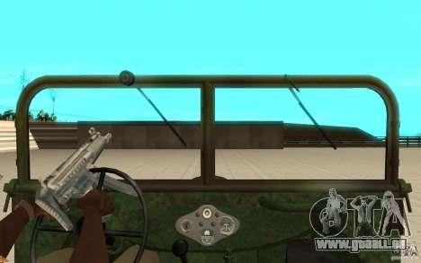 Gaz-64 peau 2 pour GTA San Andreas vue de droite