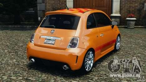 Fiat 500 Abarth pour GTA 4 Vue arrière de la gauche