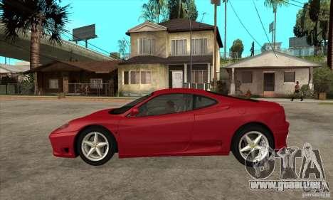 Ferrari 360 Modena für GTA San Andreas linke Ansicht