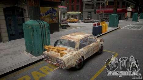 VAZ 2106 Rusty pour GTA 4 Vue arrière de la gauche