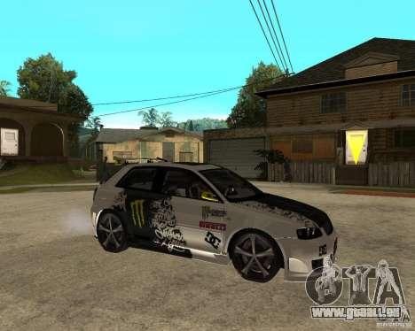 Audi S3 Monster Energy pour GTA San Andreas vue de droite