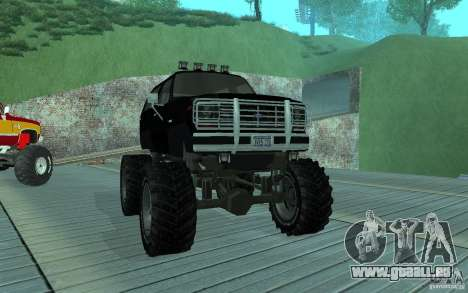 Ford Bronco Monster Truck 1985 für GTA San Andreas linke Ansicht