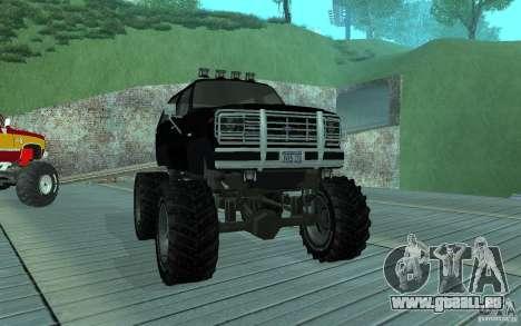 Ford Bronco Monster Truck 1985 pour GTA San Andreas laissé vue