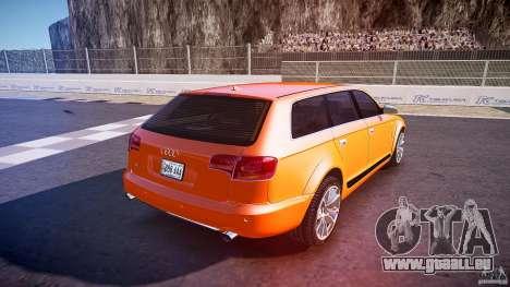 Audi A6 Allroad Quattro 2007 wheel 2 pour GTA 4 vue de dessus