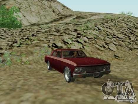 Chevrolet Chevelle pour GTA San Andreas sur la vue arrière gauche