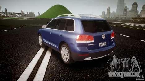 Volkswagen Touareg 2008 TDI pour GTA 4 Vue arrière de la gauche