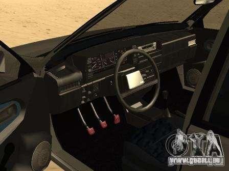 VAZ 21099 Sommer für GTA San Andreas zurück linke Ansicht