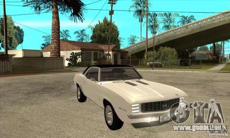 Chevrolet Camaro SS - Stock für GTA San Andreas Rückansicht