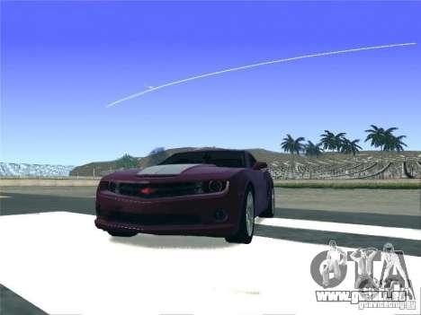 Chevrolet Camaro SS pour GTA San Andreas sur la vue arrière gauche