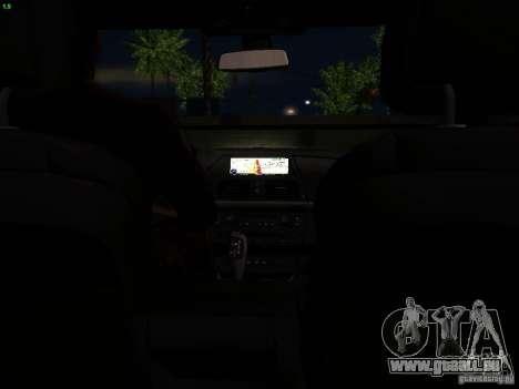 BMW X5M 2011 pour GTA San Andreas vue de dessous