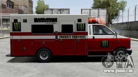 Secourisme Monster Energy pour GTA 4 Vue arrière de la gauche