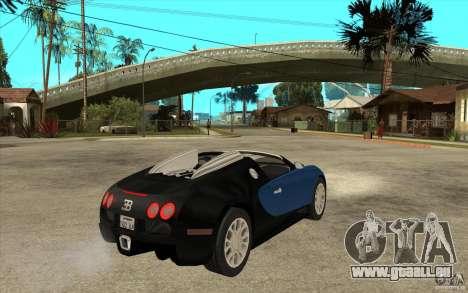 Bugatti Veyron Gran Sport 2011 für GTA San Andreas rechten Ansicht