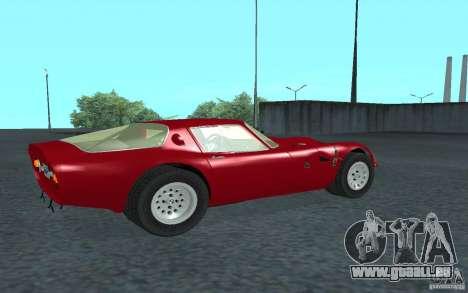 Alfa Romeo Gulia TZ2 1965 pour GTA San Andreas sur la vue arrière gauche