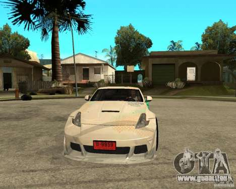 Nissan 370Z für GTA San Andreas Rückansicht