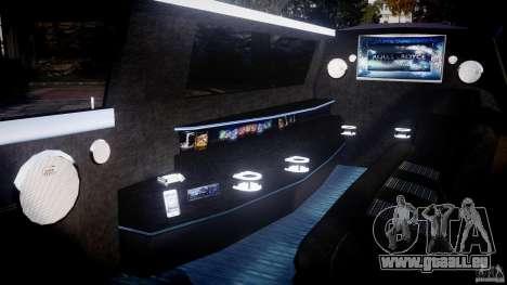 Rolls Royce Phantom Sapphire Limousine Disco pour GTA 4 est une vue de l'intérieur