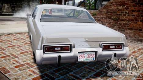 Dodge Monaco 1974 für GTA 4 hinten links Ansicht