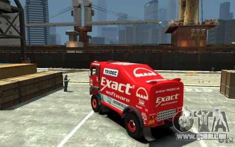 MAN TGA Rally Truck für GTA 4 hinten links Ansicht
