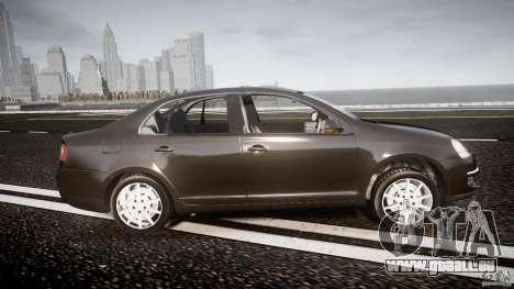 Volkswagen Jetta 2008 pour GTA 4 est une vue de l'intérieur