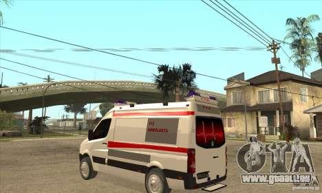 Volkswagen Crafter Ambulance für GTA San Andreas zurück linke Ansicht