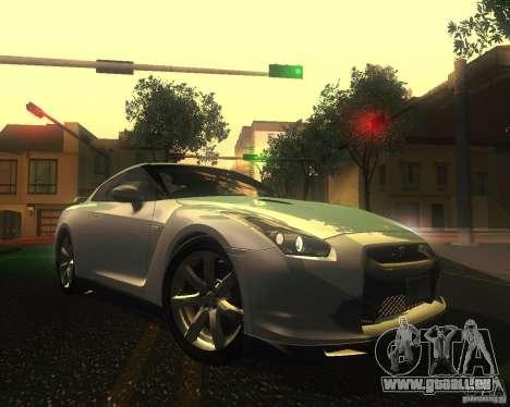 Nissan GTR R35 Spec-V 2010 Stock Wheels pour GTA San Andreas vue de dessous