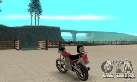 Suzuki Intruder 125cc für GTA San Andreas zurück linke Ansicht