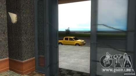 Toyota Hilux SRV 4x4 pour une vue GTA Vice City de l'intérieur