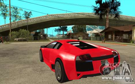 Lamborghin Murcielago LP640 v2 für GTA San Andreas zurück linke Ansicht