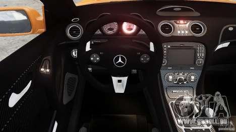 Mercedes-Benz SL65 AMG Black Series 2009 [EPM] pour GTA 4 est une vue de l'intérieur
