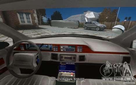Chevrolet Caprice 1991 Police für GTA 4-Motor