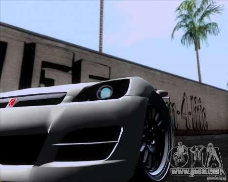Saturn Sky Roadster pour GTA San Andreas sur la vue arrière gauche