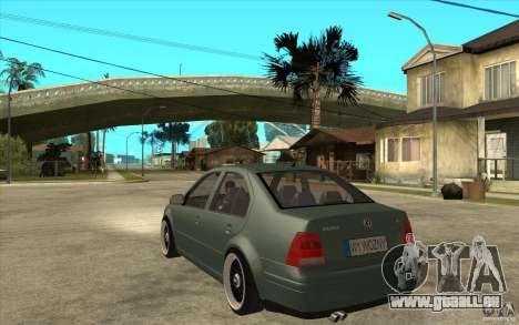 VW Bora pour GTA San Andreas sur la vue arrière gauche