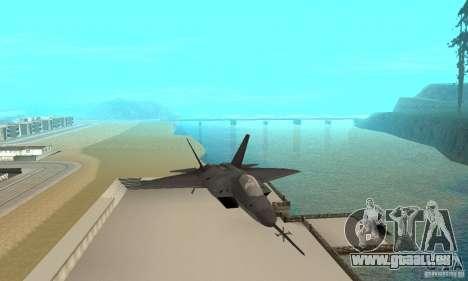YF-22 Black pour GTA San Andreas vue arrière