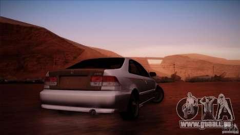 Honda Civic Coupe Si Coupe 1999 für GTA San Andreas rechten Ansicht