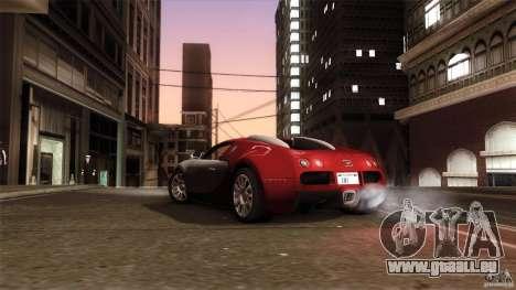 Bugatti Veyron 16.4 pour GTA San Andreas laissé vue