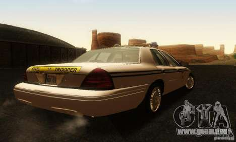 Ford Crown Victoria South Carolina Police pour GTA San Andreas laissé vue