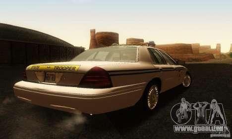 Ford Crown Victoria South Carolina Police pour GTA San Andreas laissé vue