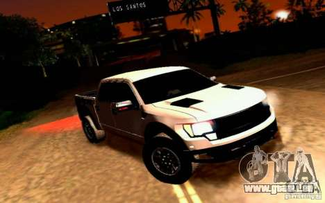 Ford Raptor Crewcab 2012 pour GTA San Andreas
