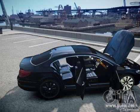 Volkswagen Passat CC pour GTA 4 vue de dessus
