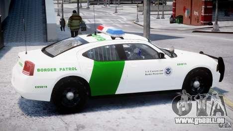 Dodge Charger US Border Patrol CHGR-V2.1M [ELS] pour GTA 4 Vue arrière de la gauche