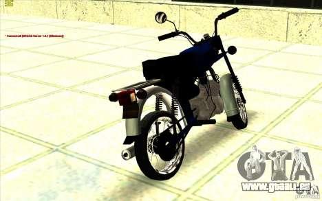 Cyclomoteur : pour GTA San Andreas laissé vue