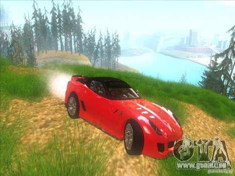 Ferrari 599XX pour GTA San Andreas vue intérieure