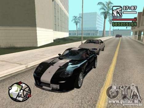 Banshee de GTA IV pour GTA San Andreas vue arrière