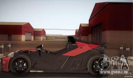 KTM-X-Bow für GTA San Andreas Rückansicht