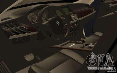 BMW X5 M 2009 pour GTA San Andreas vue arrière