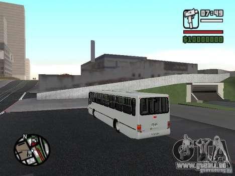 Busscar Urbanus SS Volvo B10M pour GTA San Andreas sur la vue arrière gauche