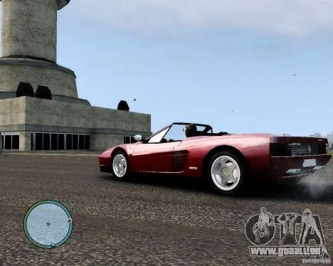 Ferrari Testarossa pour GTA 4 Vue arrière de la gauche