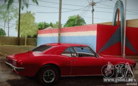 Pontiac Firebird 400 (2337) 1968 pour GTA San Andreas moteur