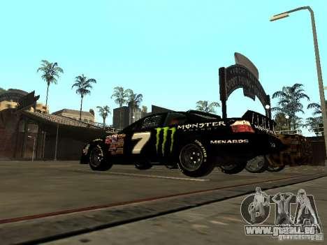 Toyota Camry Nascar Monster Energi Nr.7 für GTA San Andreas zurück linke Ansicht
